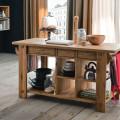 LB-ZC7250 Isola da cucina con piano legno/Free kitchen unit wooden top (L.1600 x P.700 x H.770)